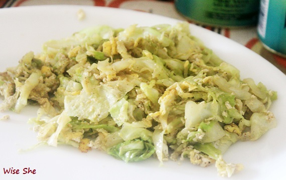 Cabbage And Egg Recipe; Paleo Diet India