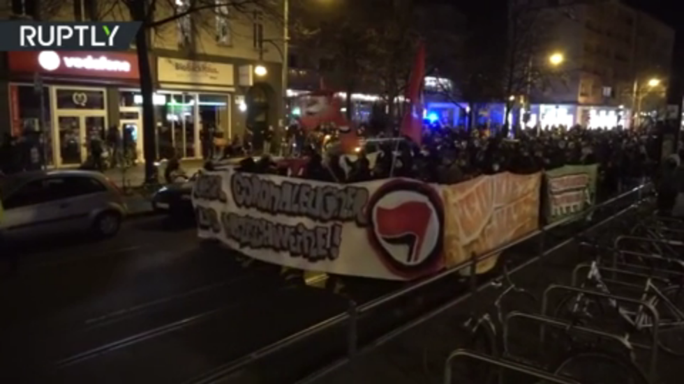 Wave of protests: Antifa marches against 'Nazi' Covid sceptics in Berlin, amid demos decrying pandemic restrictions (VIDEOS)